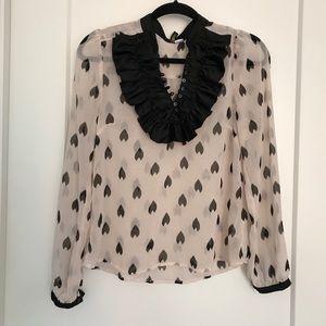 Sheer blush blouse